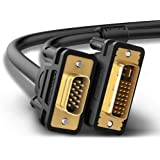 UGREEN DVI to VGA Cable 5FT DVI I 24+5 Dual Link to VGA Digital Video Cable DVI Male to VGA Male 1080P Full HD Cable
