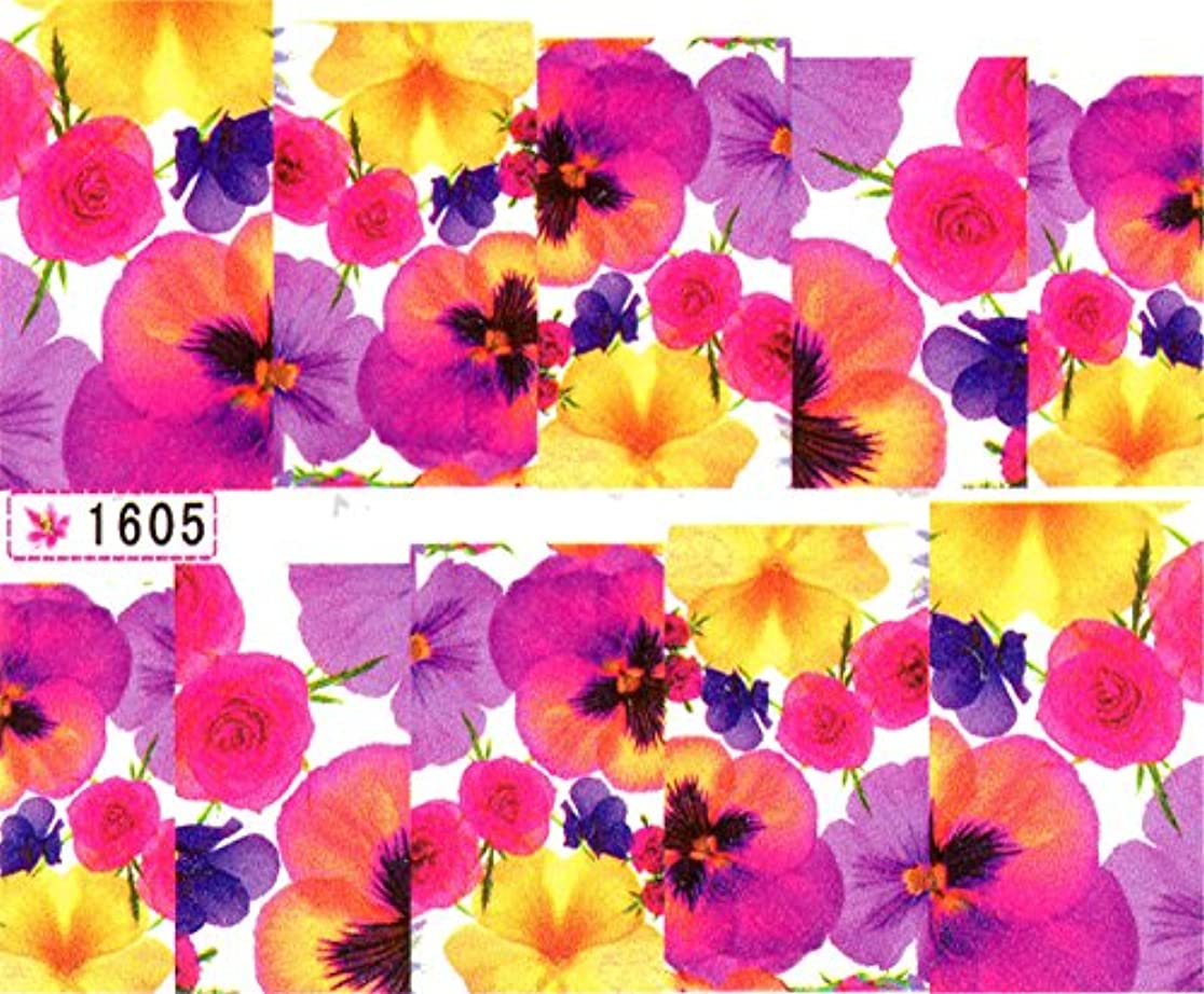 ウォーターネイルシール 花柄 選べる17種類 極薄?重ね貼りOK (W16)