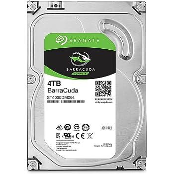 Seagate BarraCuda 4TB【 2年保証  】正規代理店 3.5インチ HDD 内蔵 ハードディスク SATA 6Gb/s 64GB 5400rpm デスクトップPC向け