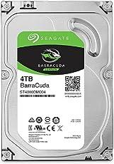 Seagate 内蔵ハードディスク 3.5インチ 4TB PCユーザー向け BarraCuda (SATA 6Gb/s / 5400rpm / 2年保証) 正規代理店品 ST4000DM004
