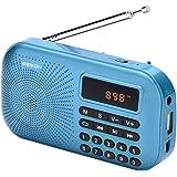 GESON RM-155Pro AM FM Radio Portable Mini USB Speaker MP3 Music Player SupportMicro SD/TF Auto Scan Save LED Display USB Tran