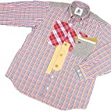 8739 【ALL】 ボタンダウンシャツ 長袖 オープンシャツ サイズ大きめ PAGELO パジェロ レッド(赤)アソート サイズM【紳士服/メンズ/男性用】