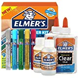 Elmer's Slime Starter Kit, Clear School Glue, Glitter Glue Pens & Magical Liquid Activator Solution, 9 Count