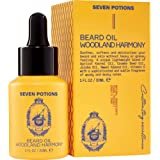 Seven Potions - Best Beard Oil & Leave-in Conditioner 30ml Scented Beard Softener. Stops Beard Itch. Natural, Organic, Vegan,