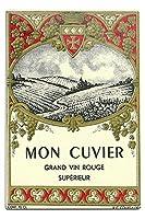 Mon Cuvierワインラベル 12 x 18 Metal Sign LANT-4606-12x18M