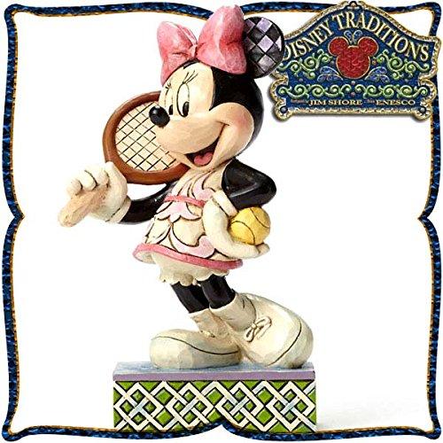 디즈니・tradition 『Minnie Tennis』 미니 마우스 테니스 레진제 목각조 피규어