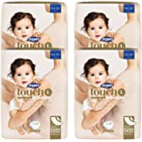 Drypers Touch Diapers, L, 54 Count, Pack of 4