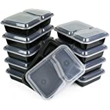 Green Direct Lunch Box Sets/Large Food Container with Lid / 2 Compartment Bento Box, Microwaveable, Freezer & Dishwasher Safe