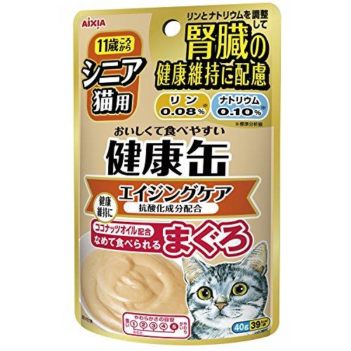健康缶 シニア猫用 健康缶パウチ ビタミンEプラス40g×12個入り