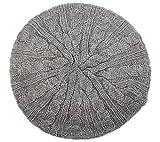 CELINE クラシックFrench Inspiredベレー帽–グレーブルーかぎ針編みベレー帽帽子