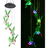 Solar String Lights, ZOUTOG Color Changing LED Mobile Hummingbird Wind Chimes, Waterproof Outdoor Solar Lights for Home / Yar