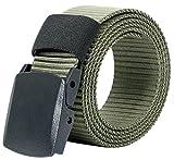 (ムジナ) mujina 高品質 ナイロンベルト 調整可能 軽量バックル メンズ 5色 フリーサイズ(約121cm) 128g (ミリタリーオリーブ)