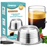 CAPMESSO Reusable Coffee Capsules, Stainless Steel Refillable Vertuo Pods Compatible with Nespresso Vertuoline GCA1 and Delon