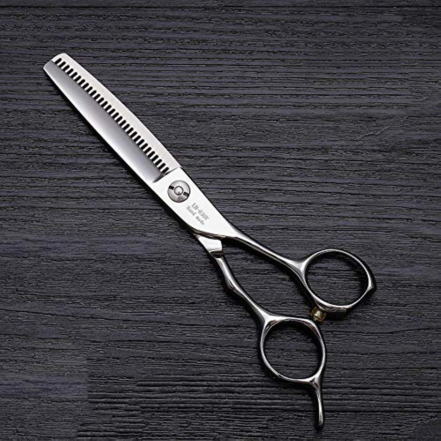 名前で病教え理髪用はさみ 6インチのヘアカットはさみ、ハイエンドの美容院の特別な髪のはさみの毛の切断はさみのステンレス製の理髪師のはさみ (色 : Silver)