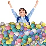 LimitlessFunN Play Balls for Kids Toddles, BPA Free & Crush Proof, Multicolored Soft Plastic Balls for Ball Pit, Baby Pool, I