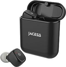 低音重視 Bluetooth 5.0 完全 ワイヤレス イヤホン Jacess スマート接続 自動ON/OFF Siri iPhone Android 対応 D06 ギフトボックス (ブラック)