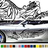 女神カーステッカー141■バイナルグラフィック車ワイルドスピード系デカール(ブラック)★色変更可★