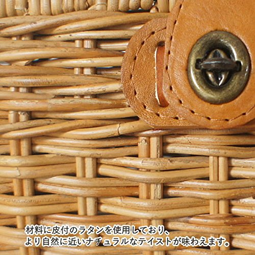 ラタンピクニックバスケット GK711ME ラタンバスケット カゴ メイクボックス 救急箱 メディスンボックス アジアン家具 アジアン雑貨 バリ雑貨