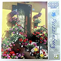 Puzzlebug - Flowers and Doorstep - 1000 Piece by Puzzlebug