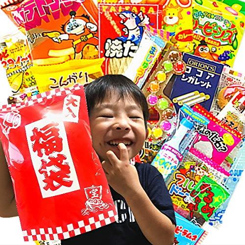 駄菓子約27点詰め合わせセット (大入り福袋ギフト袋付き)
