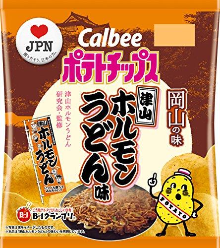 カルビー ポテトチップス津山ホルモンうどん味 55g×12袋 (岡山県)