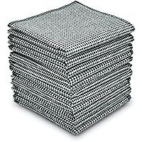EcoHanky Men's Handkerchiefs 100% Cotton 12-piece Plaid Hankies 16 Large