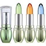 3 Packs Aloe Vera Lipstick Moisturizing Crystal Jelly Lipsticks Set, Petansy Magic Temperature Color Changing Long Lasting Li