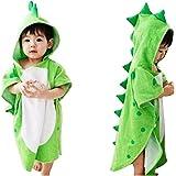 LemonGo Kids Dinosaur Capped Beach Towel Cute Horned Shape Design Hooded Bathrobe Animal Cloak Cape