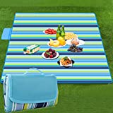 Large Camping & Picnic Blanket,TERSELY Travel Rug Waterproof 145 x 200 cm Foldable Picnic Blankets Sandproof Outdoor Rug Mat