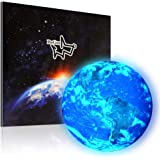 DAGOU Wall Decor Sticker,Glow in The Dark Earth Wall Stickers for Kids Room.