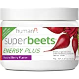 HumanN SuperBeets Energy Plus with Grape Seed Extract | Concentrated Non-GMO Beetroot Supplement with Green Tea Extract, 80mg