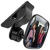 Kimlonton車用 ベビーミラー インサイトミラー 360度回転 角度・方向調節可能 車用 ルームミラー 後部座席ベビーシート監視 子供の様子を確認する補助ミラー