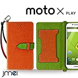 Moto X Play XT1562 ケース JMEIオリジナルカルネケース VESTA オレンジ Motorola simフリー モトローラ スマホ カバー スマホケース 手帳型 ショルダー スリム スマートフォン