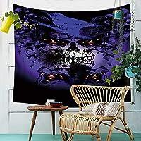 タペストリー、シーツ毛布ハロウィン汕頭タペストリー布の頭蓋骨壁のタオルの家の壁の装飾のテレビの背景壁のベッドルームの居間の布 (Color : 005, Size : 150cm*130cm)