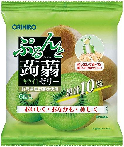 オリヒロプランデュ ぷるんと蒟蒻ゼリーパウチ キウイ 20g×6個×8袋