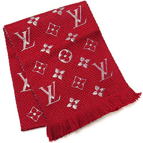 (ルイ・ヴィトン)LOUIS VUITTON ルイヴィトン レディース メンズ ストール マフラー エシャルプ ロゴマニア シャイン M75832 ルビー 赤 レッド 17228 並行輸入品