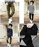 3カラー スキニー カーゴパンツ メンズ ブラック カーキ ベージュ S M L XL ベストマート画像⑨