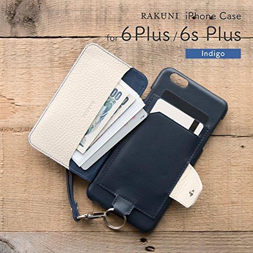 『RAKUNI (ラクニ) iPhone 6/6s Plus用 本革 背面ポケット 財布型 ストラップ付き レザーケース(スタンド機能)(iPhone 6/6s Plus用) (インディゴ)』の3枚目の画像