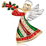 GAOZONGTER Merry Christmas Tree Holiday Christmas Brooches for Women Men Pins Jewelry Party Decorations