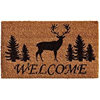 Home & More 121681729 Elk Forest Welcome Doormat 17 x 29 x 0.60 Natural/Black [並行輸入品]