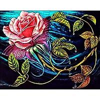 Demiawaking 5D 手作りダイヤモンド絵画セット・美しい花  貼れる ホームの装飾