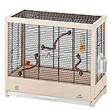 ファープラスト 鳥かご ジュリエッタ 4 GIULIETTA BLACK 木製 鳥籠 ゲージ フルセット カナリア、インコ 小型鳥用