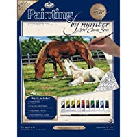 """Paint By Number Kits 11""""X14""""-Horses In Field (並行輸入品)"""