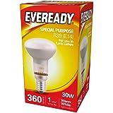 Eveready R39 SES Reflector Bulb 30 W, Silver, Glass, E14 for Lava Lamps