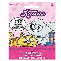 Amscan Cutey Kitty Sticker Booklet 5 x 4 x 0.1 Paper 12 Per Pack Book [並行輸入品]