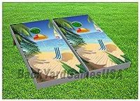 パラダイスビーチCornholeボードBeanbag Toss Game Wバッグセット431