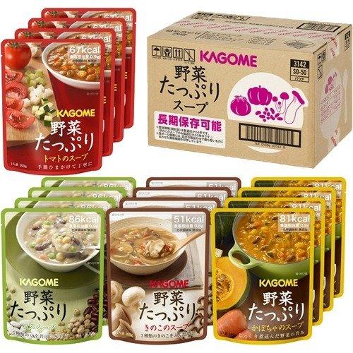 カゴメ 野菜たっぷりスープ(4種*4袋入) フード 非常食・保存食 主食(保存食・非常食) [簡易パ...