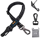 PYJR Dog Car Seatbelt, 3-in-1 Adjustable Pet Seatbelt Harness, with Elastic Nylon Bungee Buffer and Latch Bar Attachment, for