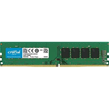 Crucial(Micron製) デスクトップPC用メモリ PC4-19200(DDR4-2400) 4GB×1枚 CL17 SRx8 288pin (永久保証)CT4G4DFS824A