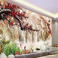 Sproud スケールカスタム壁紙ヒスイ彫刻の風景梅 Heiner 海 Tv の壁の装飾絵画 Papel De Parede 3 D 300 Cmx 210 Cm